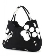Paw Hand bag Black